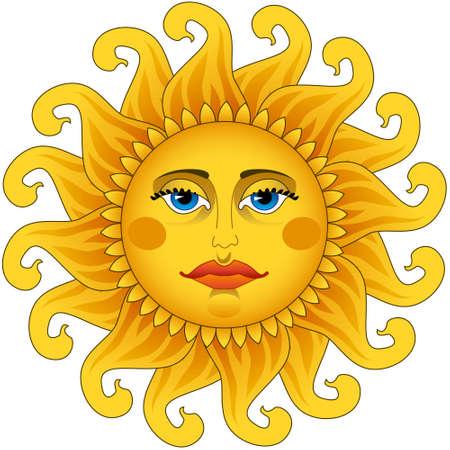 Big hot gold sun  Vector