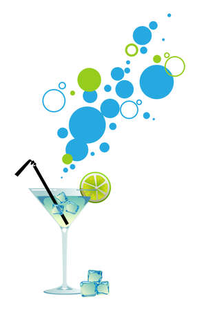 summer break: Martini with ice and lime