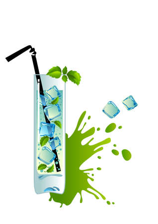 Mojito with ice Stock Vector - 23547484