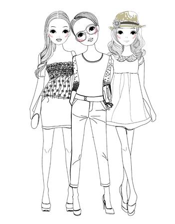 Three fashion girls Stock fotó - 30653731