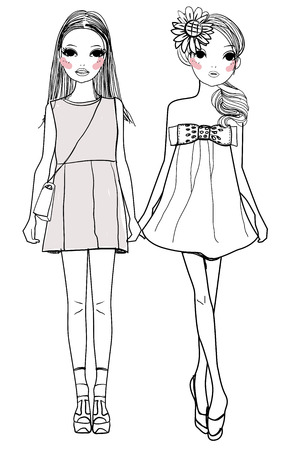 Mode Mädchen mit Taschen Standard-Bild - 30653734