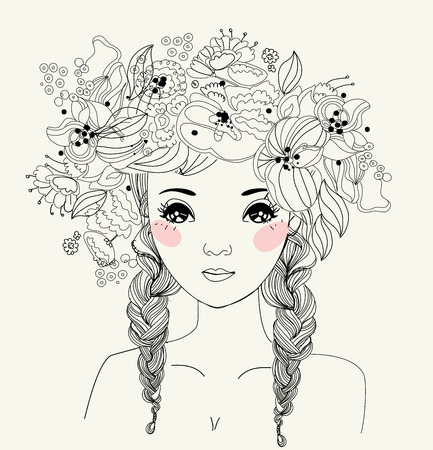 fashion illustration: Pretty girl Illustration