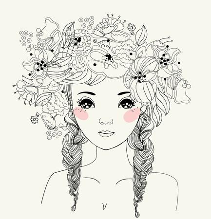 Pretty girl Ilustrace