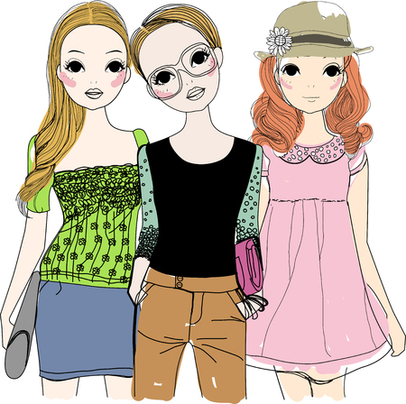 spending full: Three fashion girls