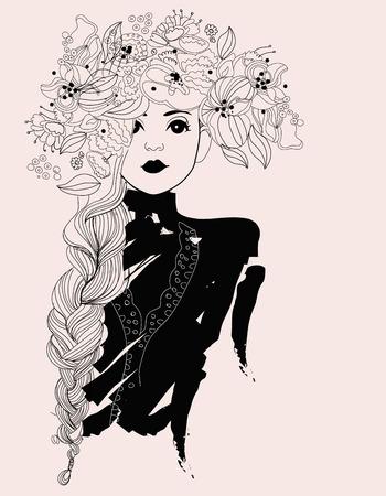 Pretty girl Illustration