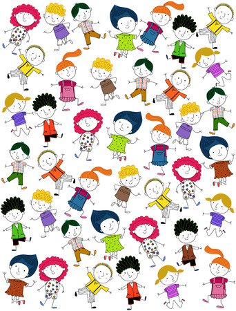 doodle art clipart: Children   Illustration