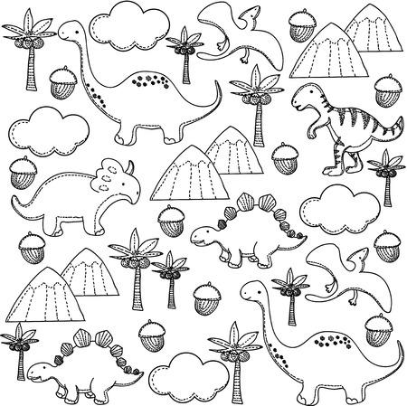 dinosaurs pattern Vector