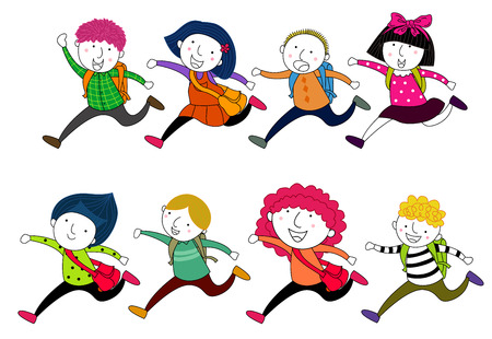 Laufen Kinder  Standard-Bild - 30653773