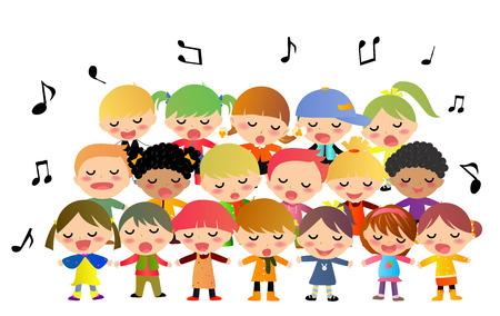 cantando: Ni�os que cantan Vectores