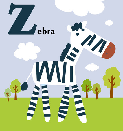 Animal alphabet for the kids  Z for the Zebra