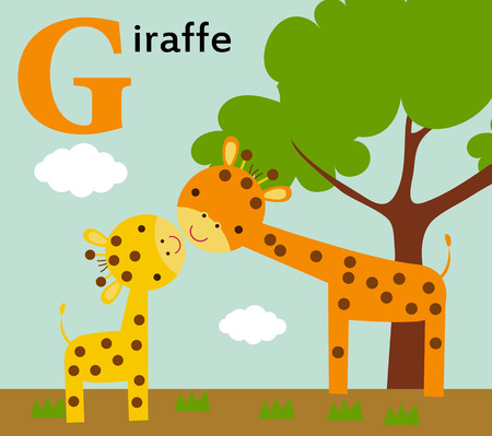 g giraffe: Animal alphabet for the kids  G for the Giraffe