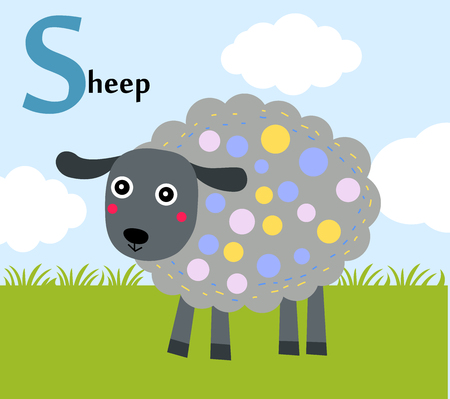 Animal alphabet for the kids S for the Sheep