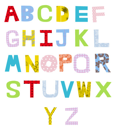 Cute alphabet Vector