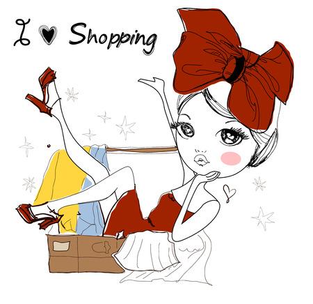 Mode Mädchen Standard-Bild - 32410492