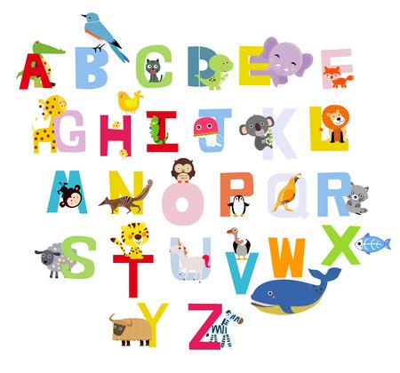 animaux zoo: Animaux alphabet Illustration