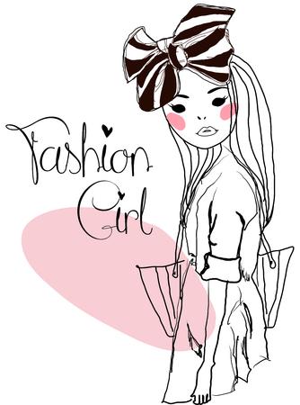 hair bow: Fashion girl