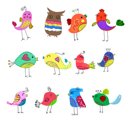 birds set Stock Illustratie