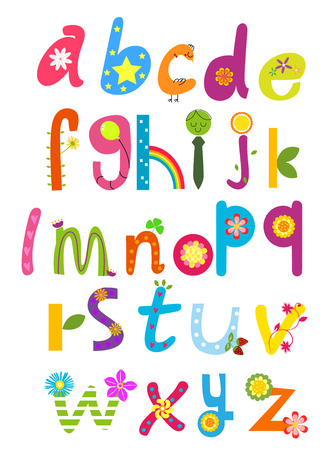 writing letter: Cute alphabet Illustration
