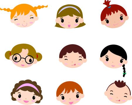 Cartoon child face