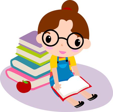 petit livre de lecture fille