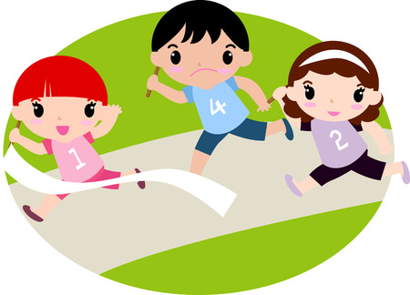 meet: Runner winning the race Illustration