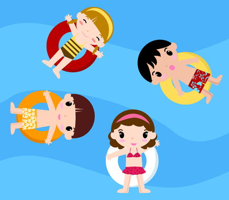 cliparts: Bambini Pool Party