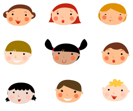 Cartoon child face Vector