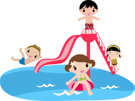 Children s Pool Party Vector