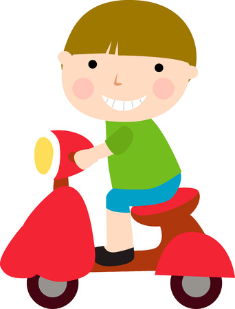 motor cycle: Boy shappy time