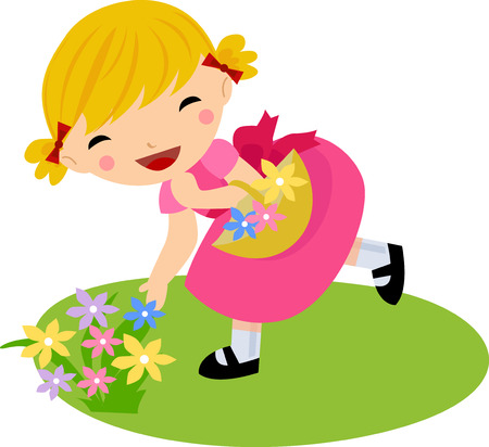 chat window: girl in dress with flowers basket