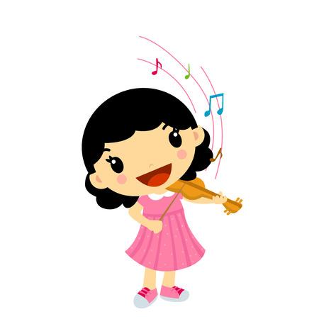 A girl playing violin  Vector