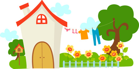tranquillity: A cute house Illustration