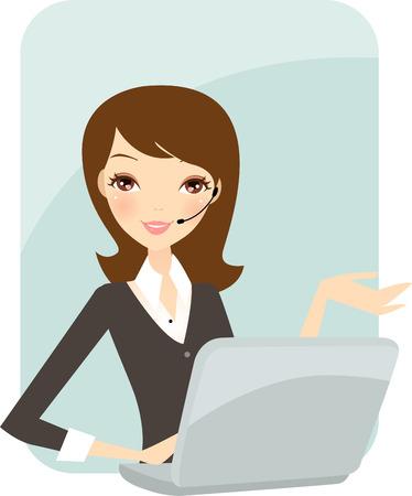 女性実業家: ビジネスの女性のオフィス  イラスト・ベクター素材