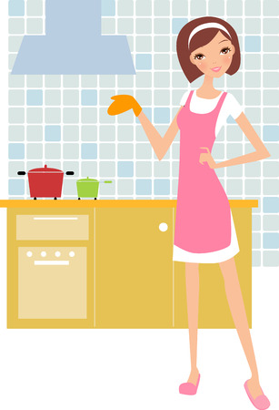 female chef: a fashion girl cooking