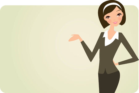 attractive woman: office lady and banner