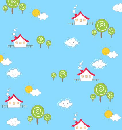 Cute house wallpaper