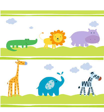 Animals background Vector