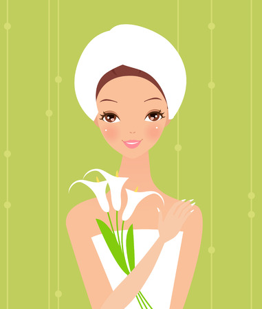 Beauty spa girl Illustration