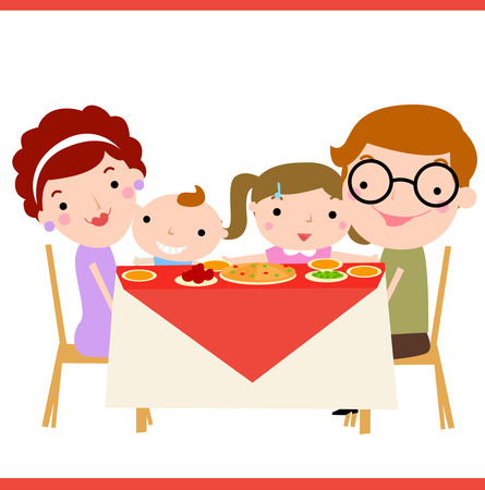 supper: happy family dinner