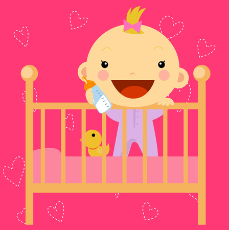 bed sheet: baby in the bed