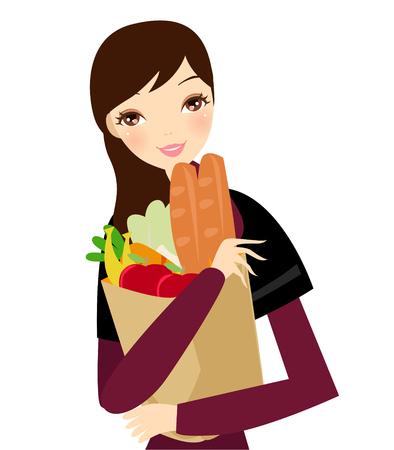 food package: Supermarkdet girl