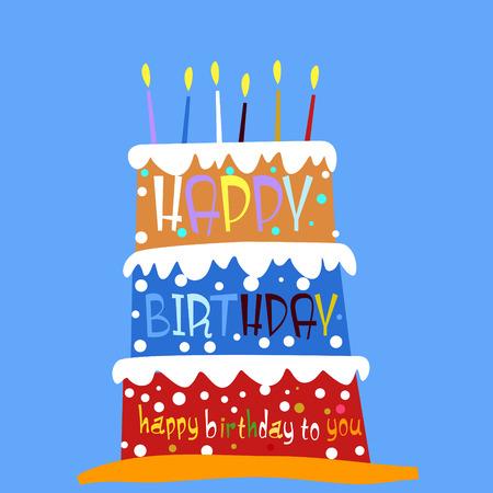birthday invite: Happy birthday Illustration