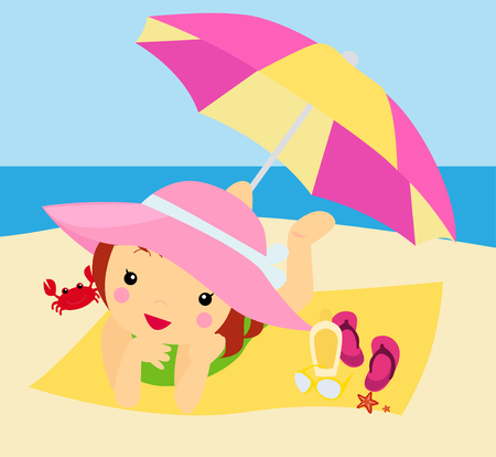 girls bathing: summer girl