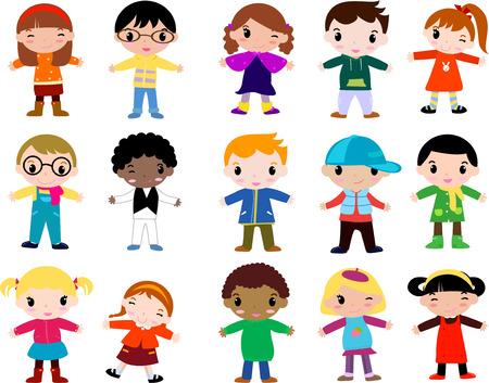was: Group of children-winter