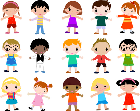 Groupe d'enfants Banque d'images - 30721232