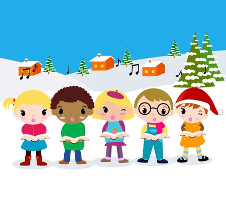 carolers: Christmas carolers