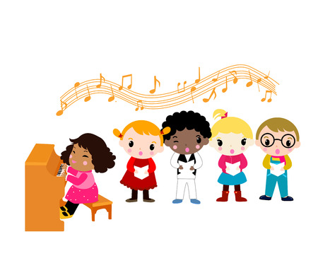 Music children Vector
