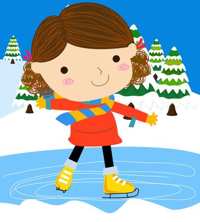 little skate: Girl on skates