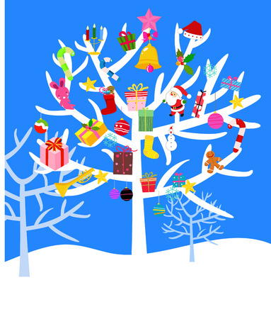 christmastree: Merry Christmas-tree Illustration