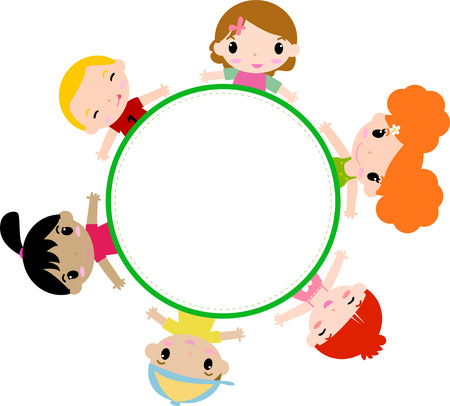 children circle: Kids and frame